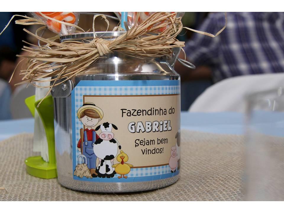 Adesivo leiteira - Festa Fazendinha