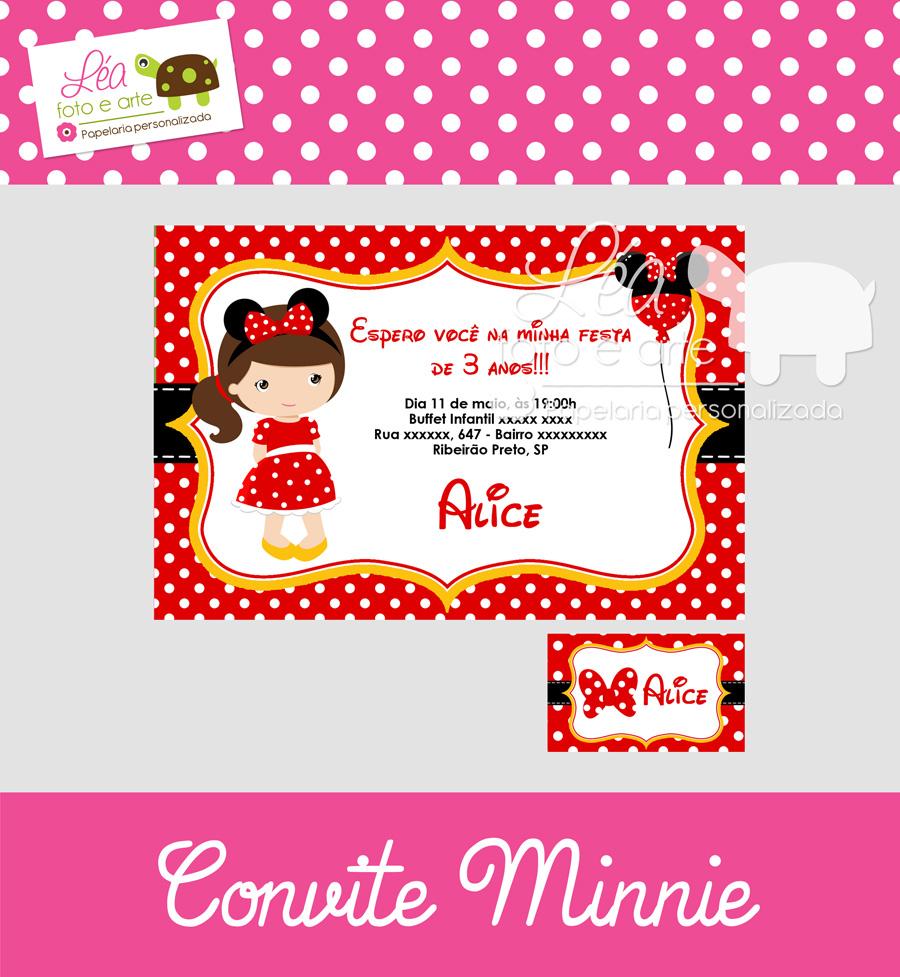 minnie convite