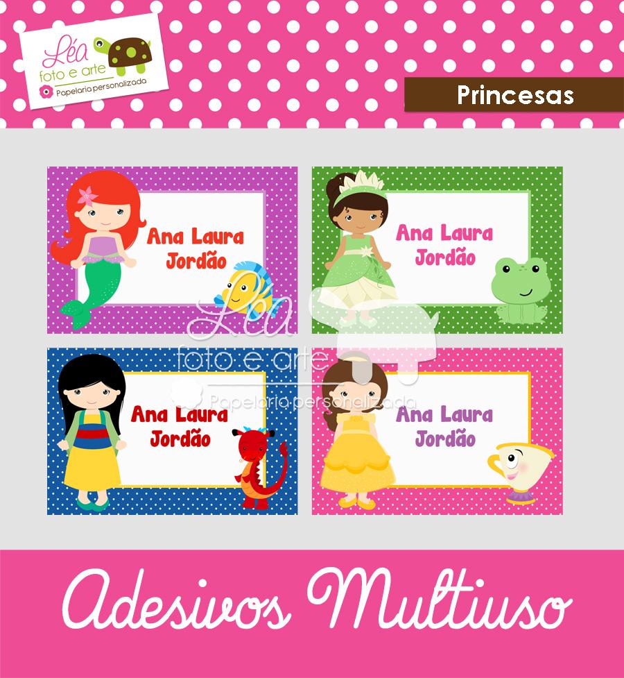 princesas adesivo multiuso