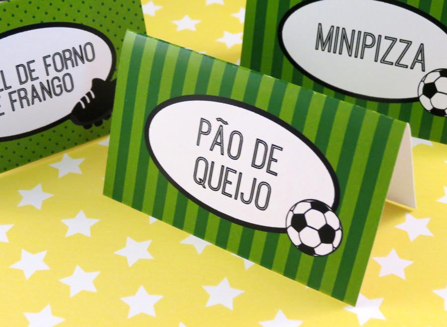 festa futebol - plaquinhas