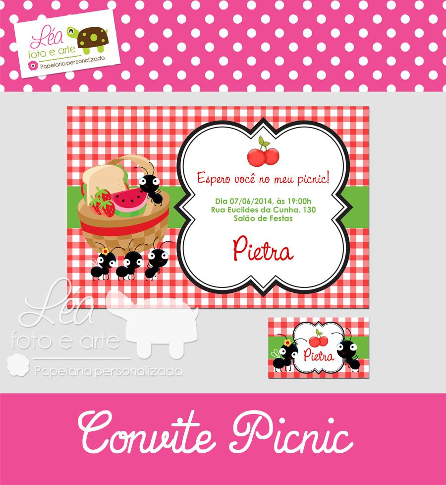 picnic convite