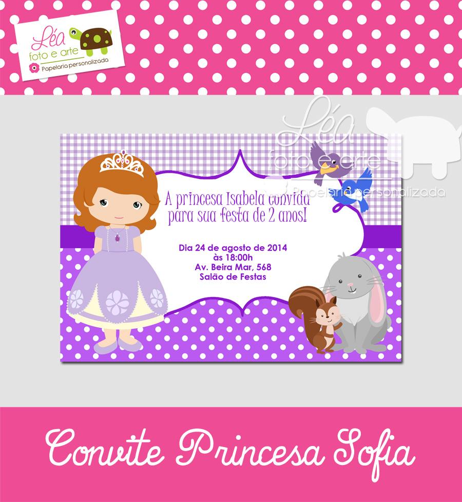 princesa sofia convite
