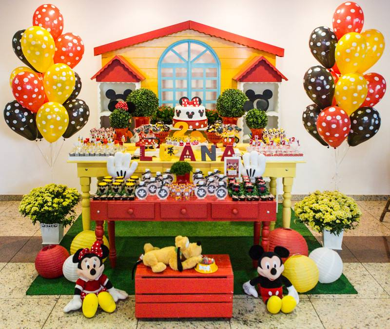 Mesa festa mickey e minnie