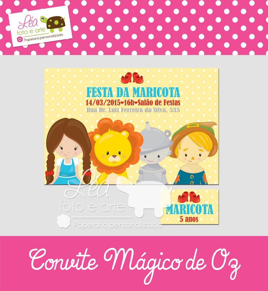 magico de oz convite