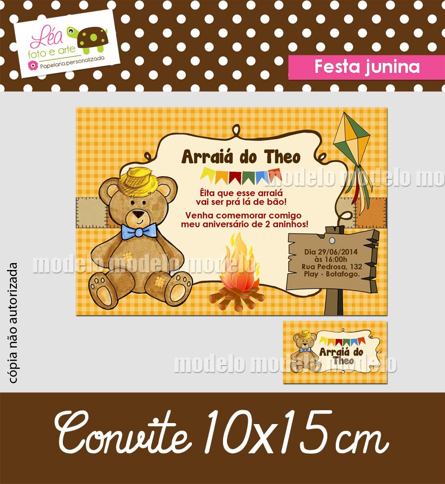 festa junina_urso_convite