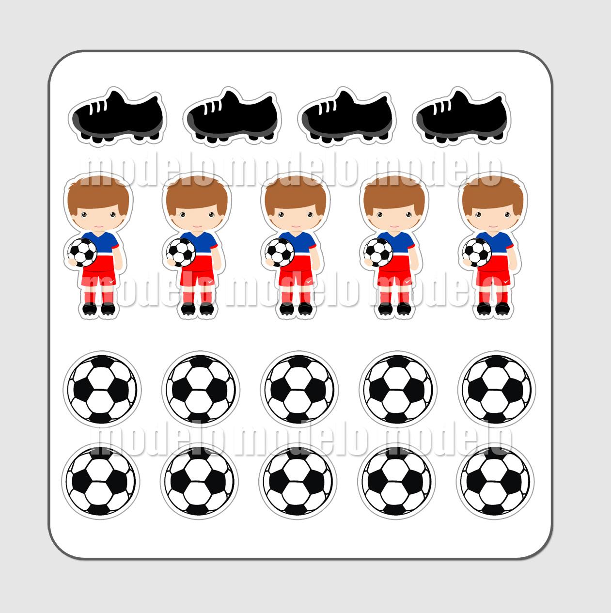 cartela adesivos futebol