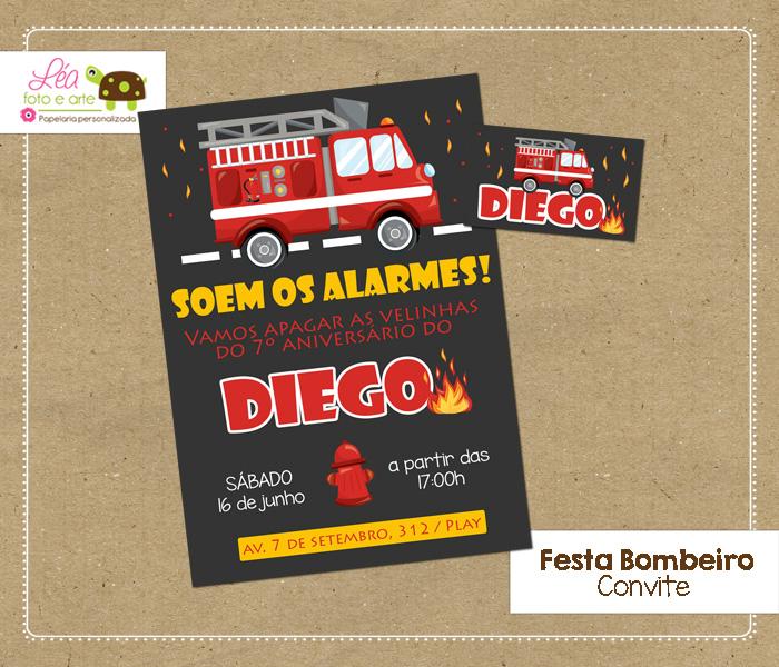 convite bombeiro