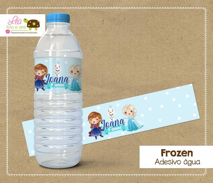 rótulo água festa frozen