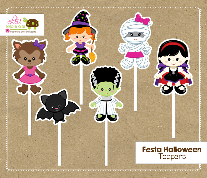 toppers tema halloween